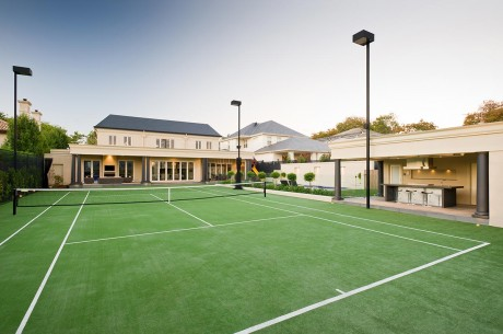 Tennis Court in Canterbury, Vic - built by McNamara Courts, Pools and Landscapes